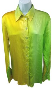 Escada Ombre Button Down Silk Top