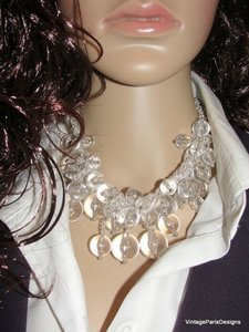 Lucite Cluster Neck Chain & Bracelet by Sequin
