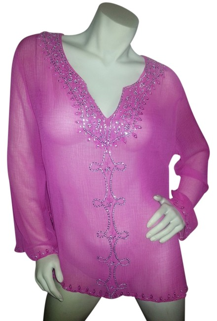 Preload https://img-static.tradesy.com/item/969239/pink-with-embellishments-tunic-size-14-l-0-0-650-650.jpg