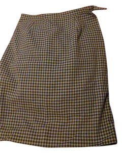 Jones New York Skirt Plaid grey and white
