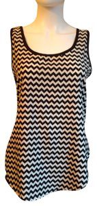 High Low Top Black and White Chevron