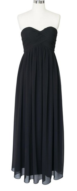 Other Strapless Strapless Chiffon Formal Top Black