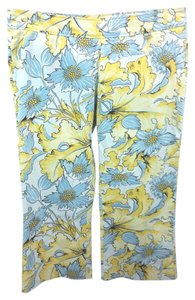 Escada Sport Floral Cotton Cropped Capri/Cropped Pants