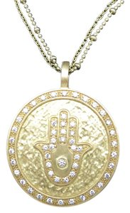 shelia fajl Hamsa Necklace shelia fajl pendant necklace Gold Plated