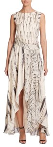 Haute Hippie Silk Draped Gown Printed Dress