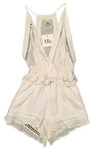 MIA Romper Sheer Detail Dress