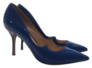 Paul Andrew Royal Blue Lacquer Pumps