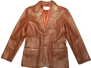 Margaret Godfrey Leather Leather Jacket Genuine Leather Comfy Chocolate brown Blazer