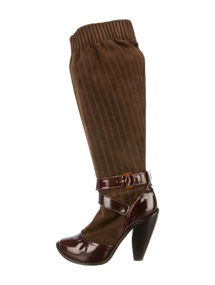 Brown And Burgundy Living Room Decor: Marc Jacobs Brown And Burgundy Boots/Booties Size US 7
