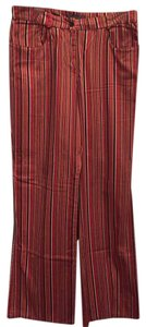 Kenar Boot Cut Pants Striped -red, pink, coral, black, green, white