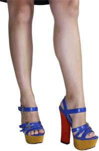 Liliana Blue Multi Sandals