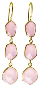 Independent Clothing Co. Triple Stand Pink Chalcedony Earrings