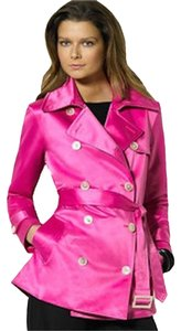 Ralph Lauren Swing Pink High Sheen New With Tags Trench Coat