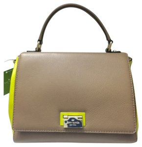 Kate Spade Satchel in Dune/Sand & Lime Green Multi
