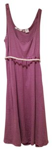 Matix short dress Purple and White stripes on Tradesy