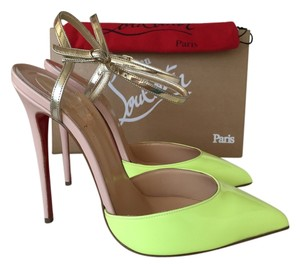 Christian Louboutin Louboutin So Kate Nude Patent Degrade Leather Yellow nude/yellow Pumps