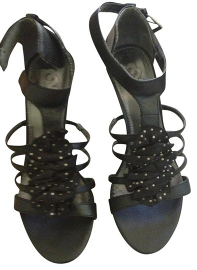 R2 Strappy Night Out Black Sandals