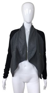Zipper Shawl Grey and Black Jacket