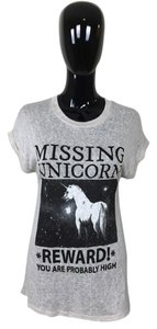 Black Unicorn T Shirt Tan