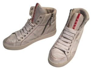 Prada Distressed High-tops White Athletic