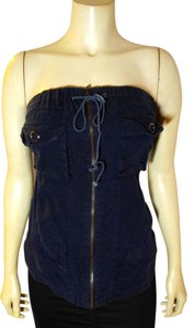 S-Twelve Sleeveless Size Small Top navy blue