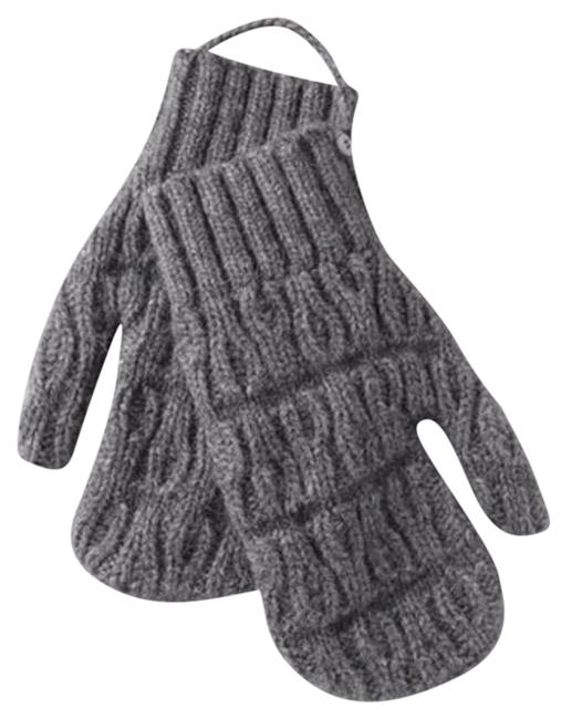 Item - Grey Oversized Cable Knit Alpaca Wool Knit Mittens
