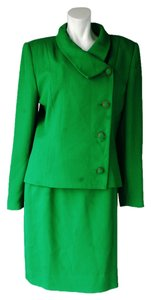 Other Unbranded Skirt Suit Green Triacatate/Polyester Made in USA Size 8/10