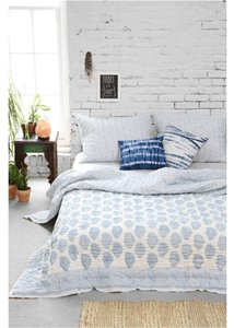 Urban Outfitters Magical Thinking Blue Paisley Quilt