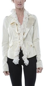 Roberto Cavalli playful snowball white Womens Jean Jacket