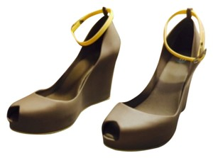 Melissa Hearher Grey and Yellow lining. Wedges