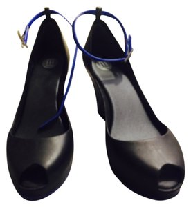 Melissa Black with Blue lining Wedges