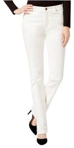 Charter Club Tommy Slimming Straight Pants Ivory