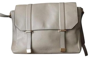 Marc by Marc Jacobs Leather Messenger Oyster Color Beige Messenger Bag