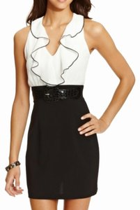 BCX short dress White and charcoal on Tradesy