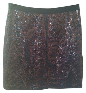 Tory Burch Skirt Brown Black