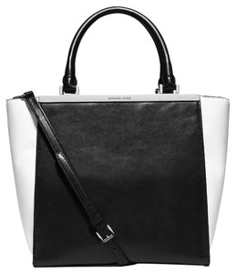 Michael Kors Lana Colorblock Leather Silver Tote