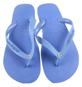 Havaianas Crystal Light Blue Flats