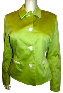 KASPER Dress Jacket Size 10 LIME GREEN Blazer
