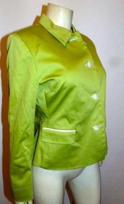 Kasper Size 10 Tailored Fit Jacket LIME GREEN Blazer