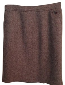 Trina Turk Pencil Pencil Work Skirt Brown Tweed