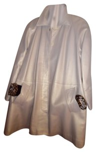 Vericci Gold Leather Coat Fur Coat