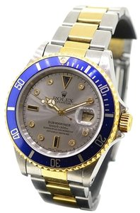 Rolex Rolex Submariner 16613 18K/SS Slate Gray Diamond dial blue Bezel Men's Watch