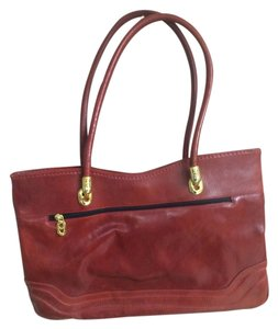 Marino Orlandi Vintage Satchel in red