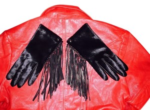 Henri Bendel Fringe;leather:;pony hair gloves