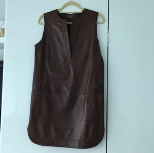 Vince short dress Saddle brown on Tradesy