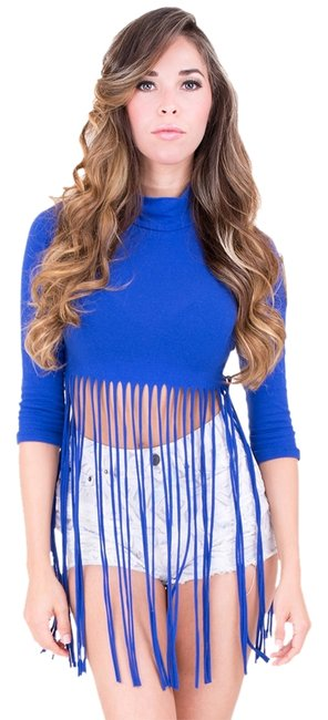Preload https://item5.tradesy.com/images/love-j-fringe-crop-sexy-top-royal-blue-970664-0-0.jpg?width=400&height=650