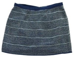 Gryphon Mini Skirt Navy blue/ silver glass beads
