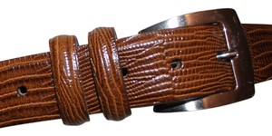 Other 100% FULL GRAIN LEATHER, CROC EMBOSSED BELT