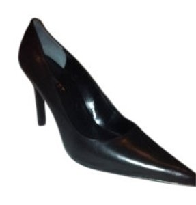 Nine West Formal Leather Black Pumps