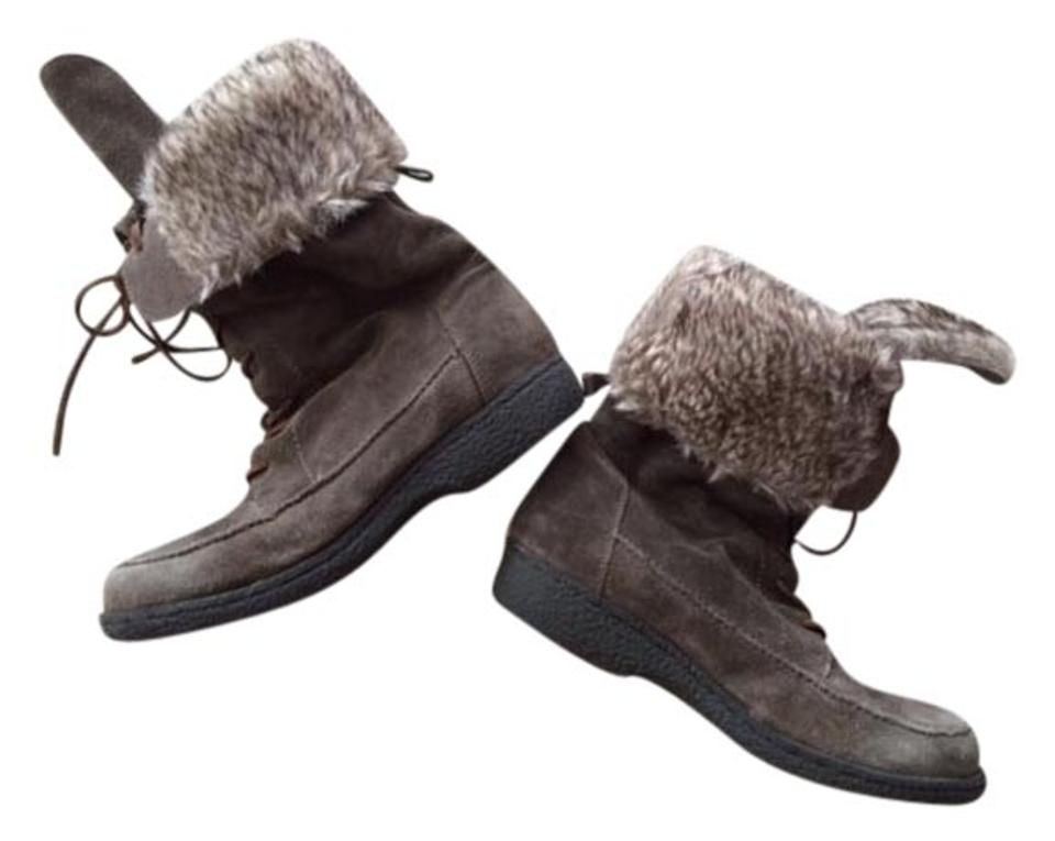 Sam Edelman Suede Taupe Grey Fur Lined Suede Edelman Boots/Booties 95989e